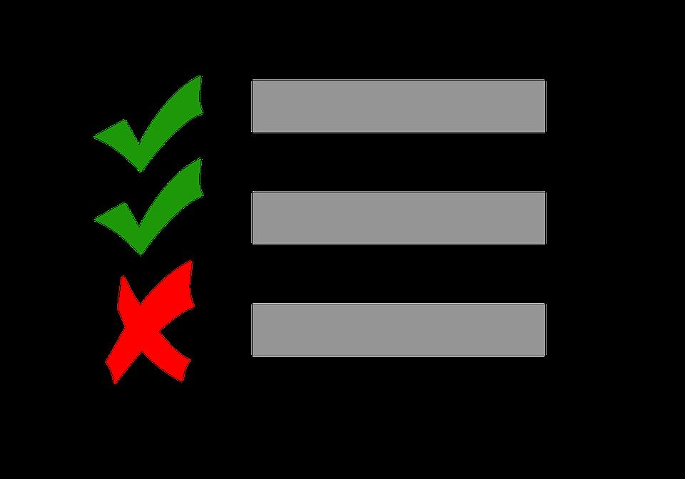 immagine checklist con check verdi per spunte